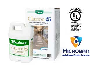 Introducing Buckeye's Clarion 25 Floor Finish with Microban